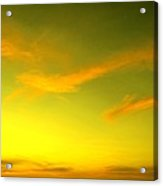The Final Light Is Gold Acrylic Print