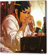 The Final Touch-chinese Opera Acrylic Print
