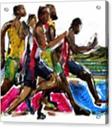The Finish Line Acrylic Print by Russell Pierce