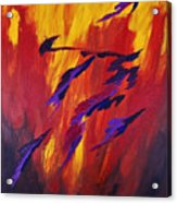 The Fire Of Life Acrylic Print