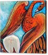 The Firebird and the Sailboat Acrylic Print