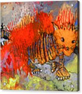 The Firecat Acrylic Print