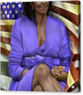 The First Lady-american Pride Acrylic Print