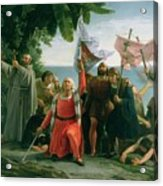 The First Landing Of Christopher Columbus Acrylic Print
