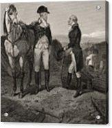 The First Meeting Of George Washington And Alexander Hamilton Acrylic Print