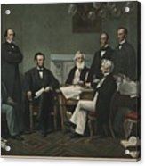 The First Reading Of The Emancipation Acrylic Print by Everett