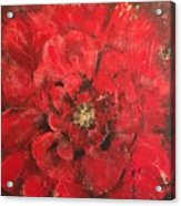 The First Red Poppie. Acrylic Print
