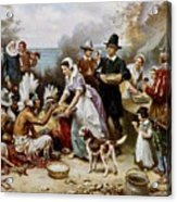 The First Thanksgiving Acrylic Print