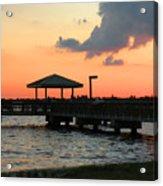 The Fishing Dock At Sunset Acrylic Print