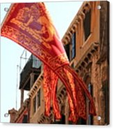 The Flag Of Venice Acrylic Print