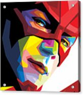 The Flash Colorful Pop Art Acrylic Print