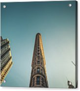The Flatiron Building Towering Over Manhattan Acrylic Print