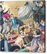 The Flight Of Father Dominic Acrylic Print by English School