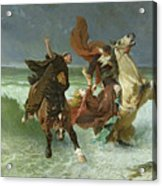 The Flight Of Gradlon Mawr Acrylic Print by Evariste Vital Luminais
