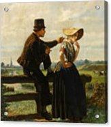 The Flirtation Acrylic Print