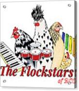 The Flockstars Acrylic Print by Sarah Rosedahl
