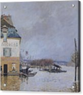 The Flood At Port Marly Acrylic Print by Alfred Sisley