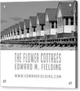 The Flower Cottages By Edward M. Fielding Acrylic Print