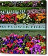The Flower Field Acrylic Print