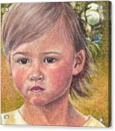 The Flower Girl Acrylic Print by Melissa J Szymanski