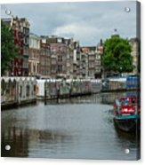 The Flowermarket Canal Acrylic Print