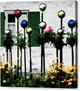 The Flowers And The Balls Acrylic Print