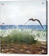 The Flying Instant Of Surf Acrylic Print
