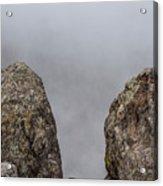 The Fog Through The Rocks Acrylic Print