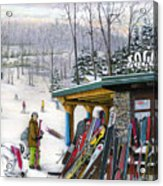 The Foggy Goggle At Seven Springs Acrylic Print