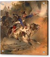The Foraging Hussar 1840 Acrylic Print