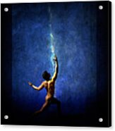 The Force Acrylic Print by Michael Taggart