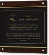 The Forever Prayer Acrylic Print