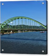 The Fort Henry Bridge - Wheeling West Virginia Acrylic Print