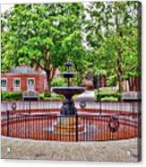 The Fountain At Radford University Acrylic Print