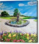 Gushing Fountain Acrylic Print