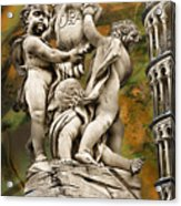 The Fountain With Angels Pisa - La Fontana Dei Acrylic Print