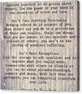 The Four Agreements 6 Acrylic Print