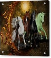 The Four Horses Of The Apocalypse Acrylic Print