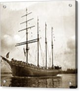 The Four-masted Barkentine  Jane Stanford Built By Hans Bendixse 1892 Acrylic Print