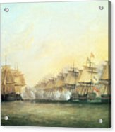 The Fourth Action Off Trincomalee Between The English And The French Acrylic Print