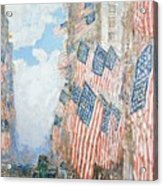 The Fourth Of July Acrylic Print by Childe Hassam