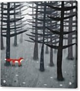 The Fox And The Forest Acrylic Print