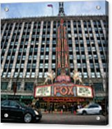The Fox Theatre In Detroit Welcomes Charlie Sheen Acrylic Print