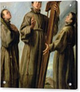 The Franciscan Martyrs In Japan Acrylic Print by Don Juan Carreno de Miranda
