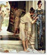 The Frigidarium Acrylic Print by Sir Lawrence Alma-Tadema