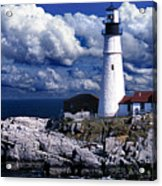 The Front At Portland Head Acrylic Print by Skip Willits