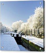 The Frozen Dallow Lane Lock Acrylic Print