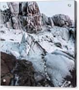 The Frozen Peak Of Bearnagh Acrylic Print