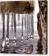 The Frozen Veil Acrylic Print