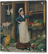 The Fruit Seller Acrylic Print by Victor Gabriel Gilbert
